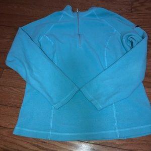 Blue half zip fleece